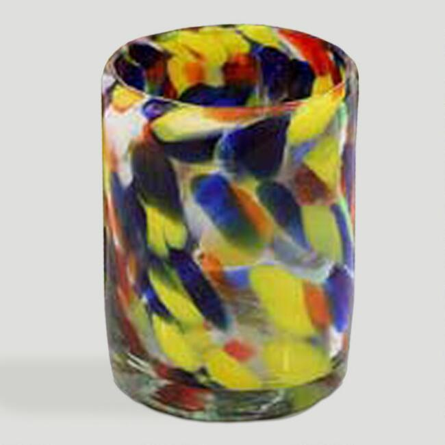 Novica Liquid Confetti Tumblers, Set of 6