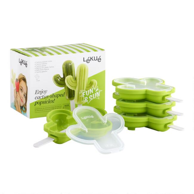 Lekue Cactus Stackable Ice Pop Molds 4 Pack