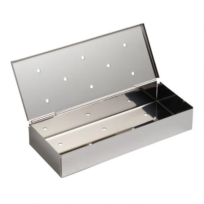 Stainless Steel Barbecue Grill Wood Chip Smoker Box