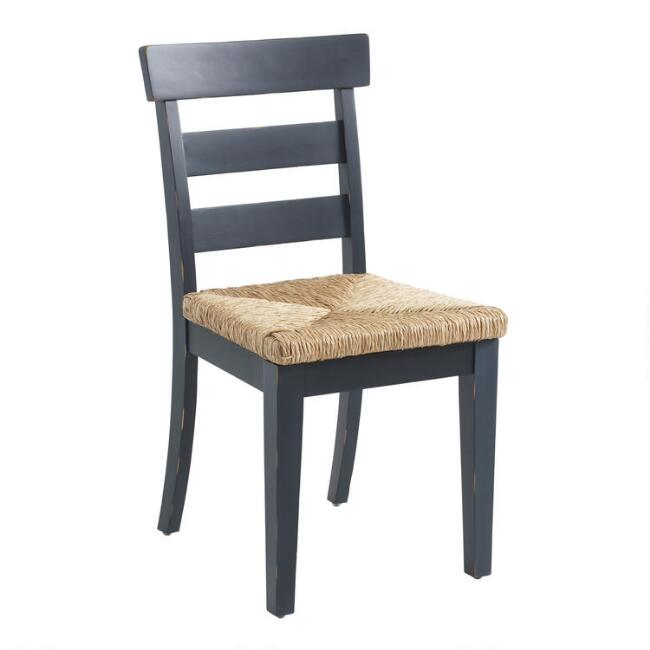 Wood and Seagrass Amelia Dining Chairs Set of 2