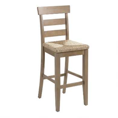 Wood and Seagrass Amelia Barstool