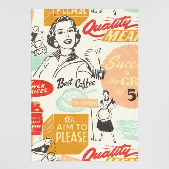 Vintage Coffee Ad Kitchen Towel