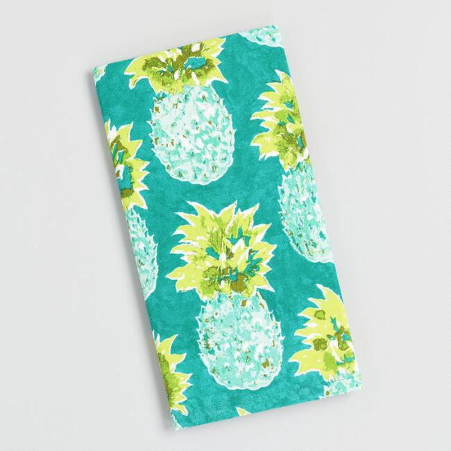Paloma Pineapple Print Kitchen Towel