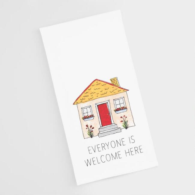 Everyone is Welcome Here Kitchen Towel