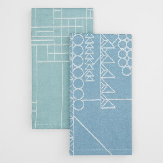 Frank Lloyd Wright Jacquard Kitchen Towels Set of 2