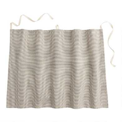 Gray Stripe Half Apron