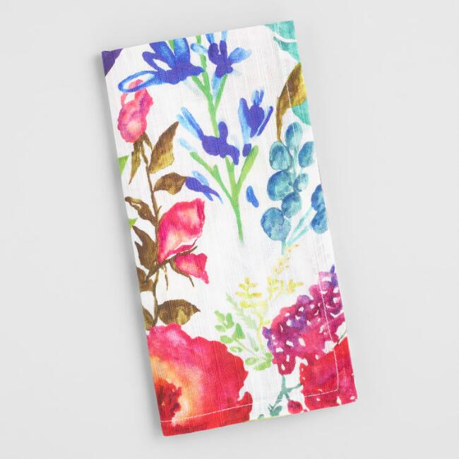 Botanical Poppy Napkins Set of 4