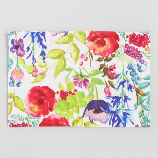 Botanical Poppy Placemats Set of 4
