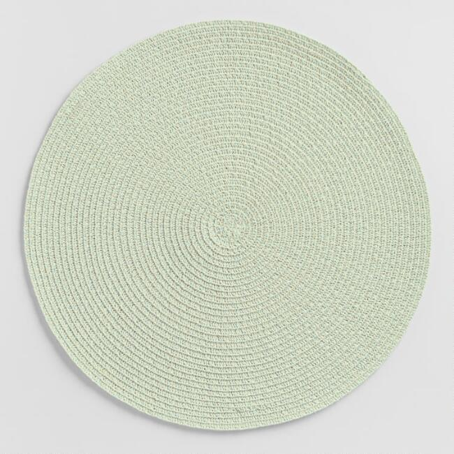 Round Pale Mint Braided Placemats Set of 4