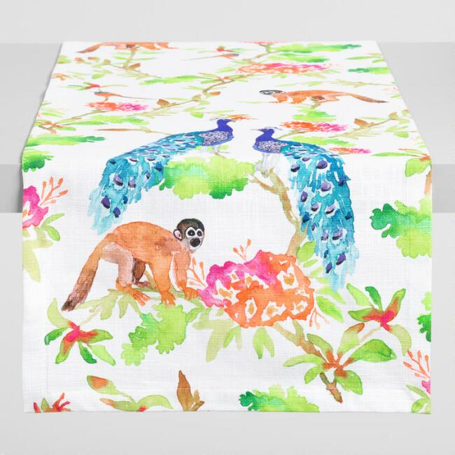 Tropical Fauna Table Runner