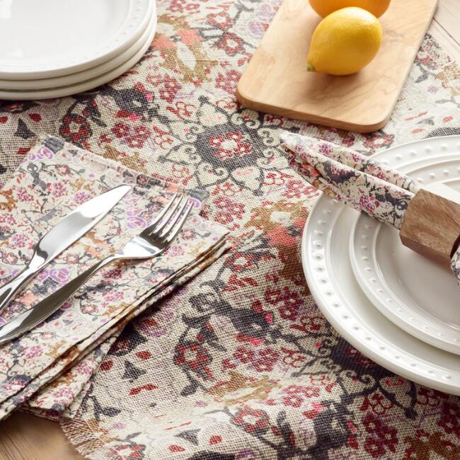 Stonewashed Medallion Persia Table Linen Collection