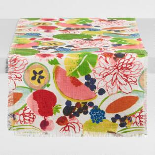 Santiago Fruit Jute Table Runner