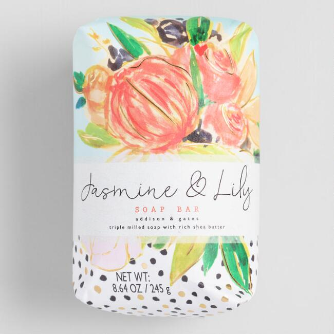 A&G Floral Dot Jasmine and Lily Bar Soap