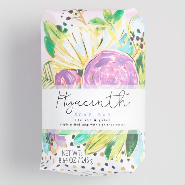 A&G Floral Dot Hyacinth Bar Soap