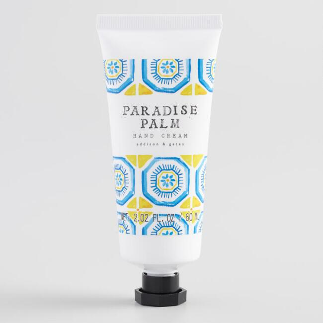 A&G Watercolor Tile Paradise Palm Hand Cream Set of 2