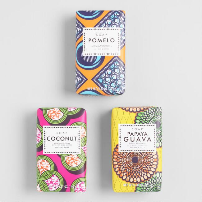 A&G Wax Print Bar Soap Collection