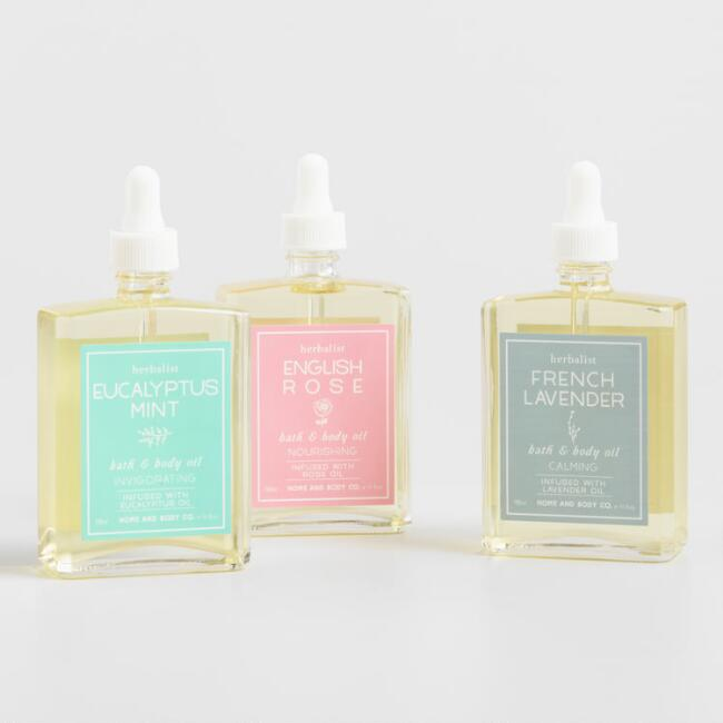 Herbalist Bath and Body Oil Collection