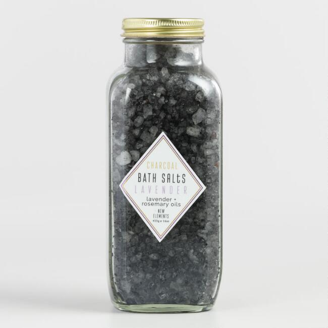 Elements Rosemary Lavender Charcoal Extract Bath Salts