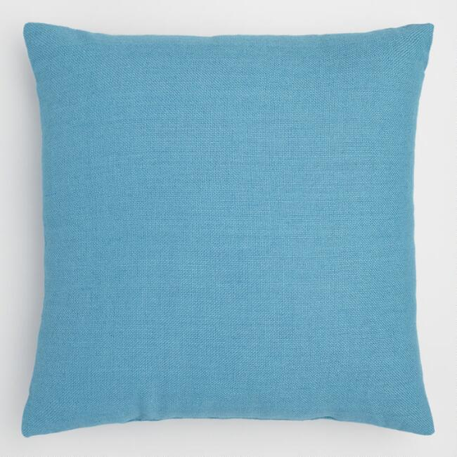 Blue Moon Woven Indoor Outdoor Throw Pillow