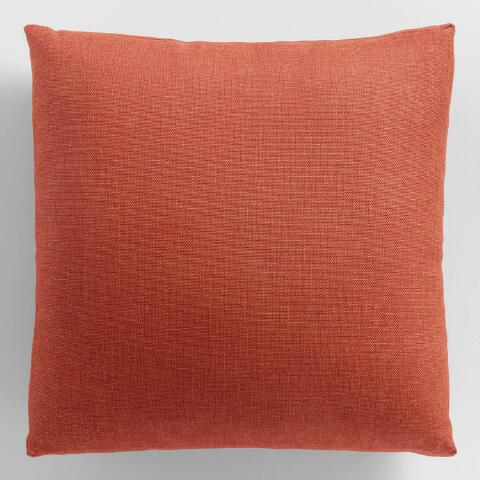 Red Orange Gusseted Outdoor Throw Pillow World Market