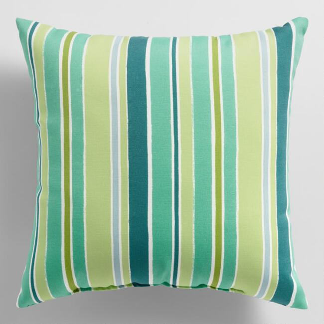 Cool Stripe Mariana Outdoor Throw Pillow