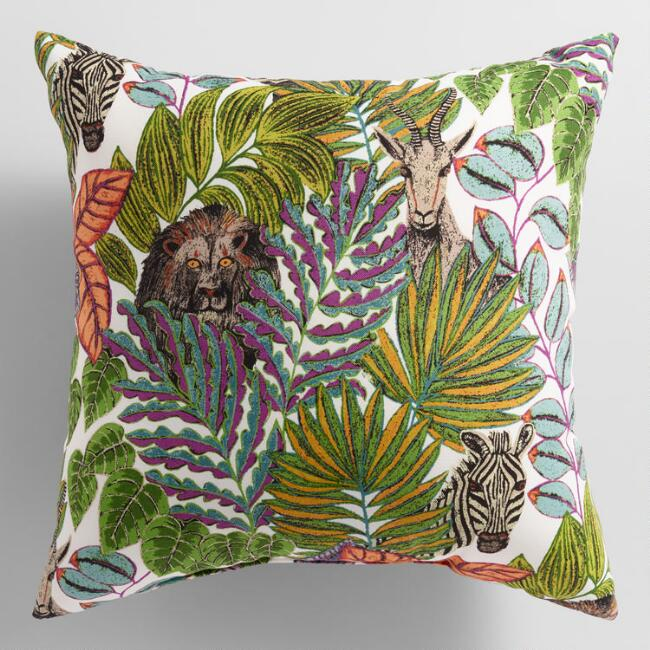 Jungle Love Outdoor Throw Pillow