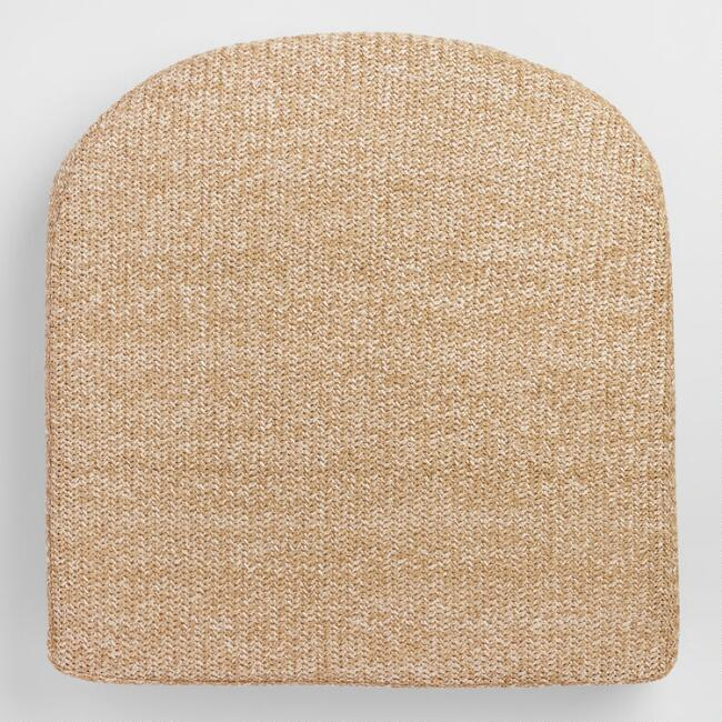 Natural Hermosa Gusseted Outdoor Chair Cushion