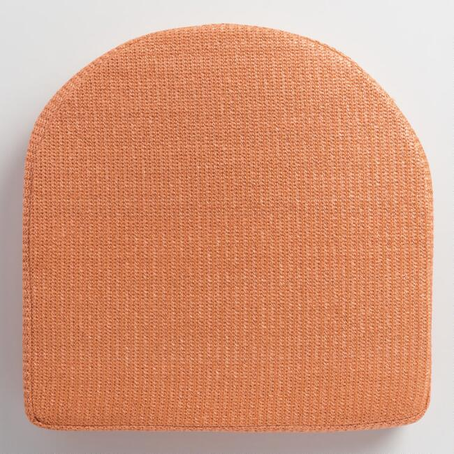 Orange Hermosa Gusseted Outdoor Chair Cushion