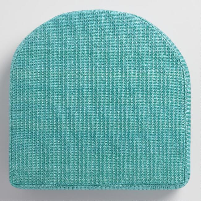 Teal Hermosa Gusseted Outdoor Chair Cushion