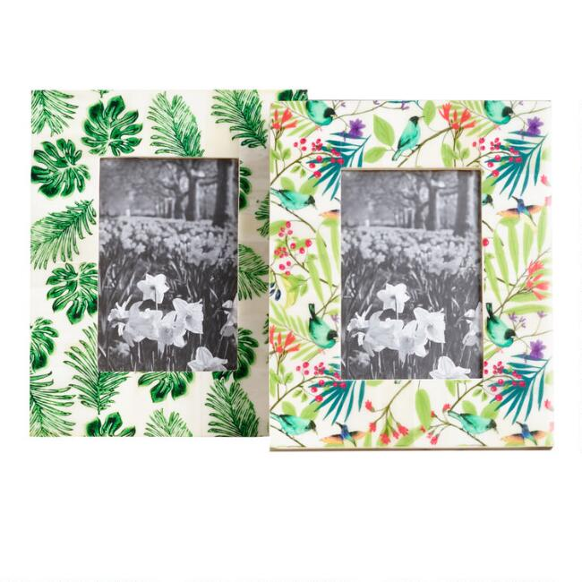 Jungle and Monstera Bone Frames Set of 2