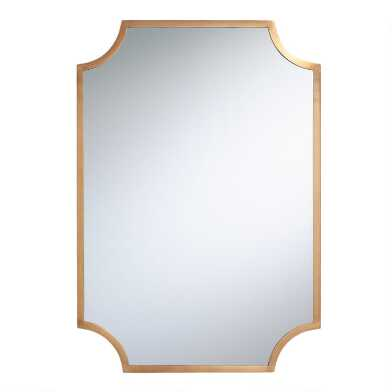 Brass Notched Ophelia Mirror