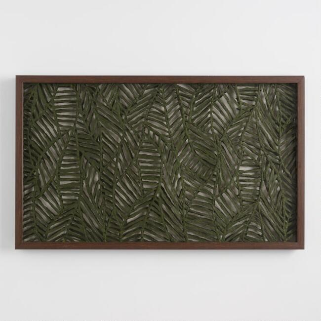 Fern Green Cutout Rice Paper Wall Art