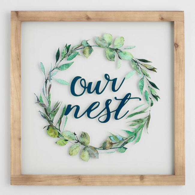 Our Nest Glass Pane Wall Decor