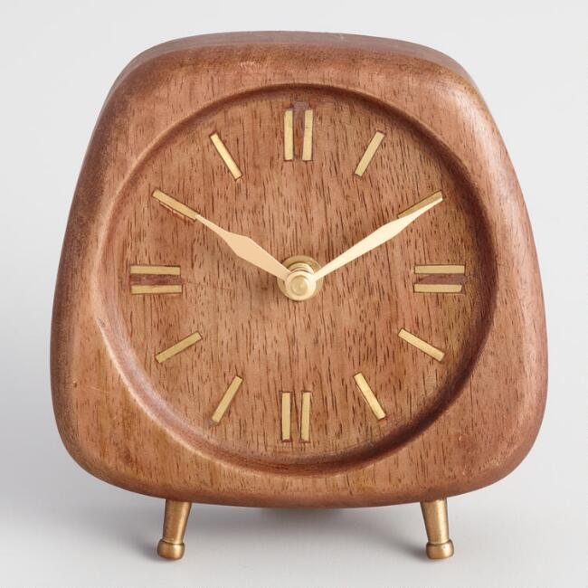 Walnut Wood Mid Century Clock