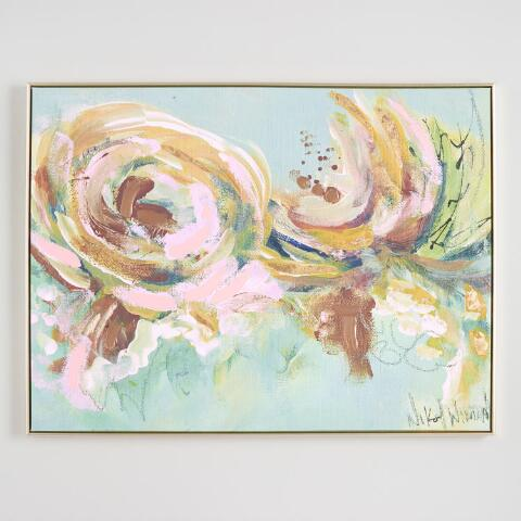 Spring Floral Abstract By Nikol Wickman Canvas Wall Art