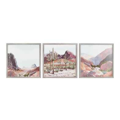 Desert Scene By Mariusz Moreau Framed Wall Art 3 Piece