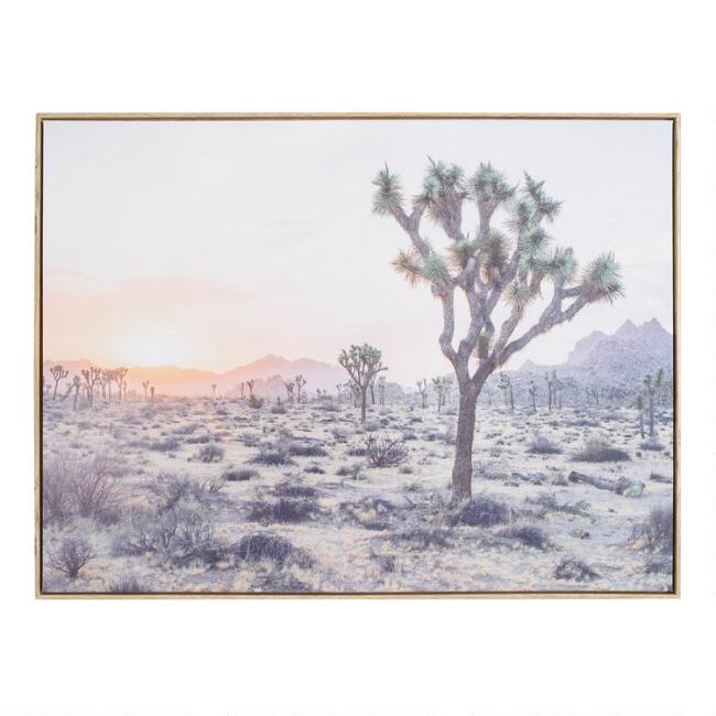 Joshua Tree By Dean Mayo Framed Canvas Wall Art