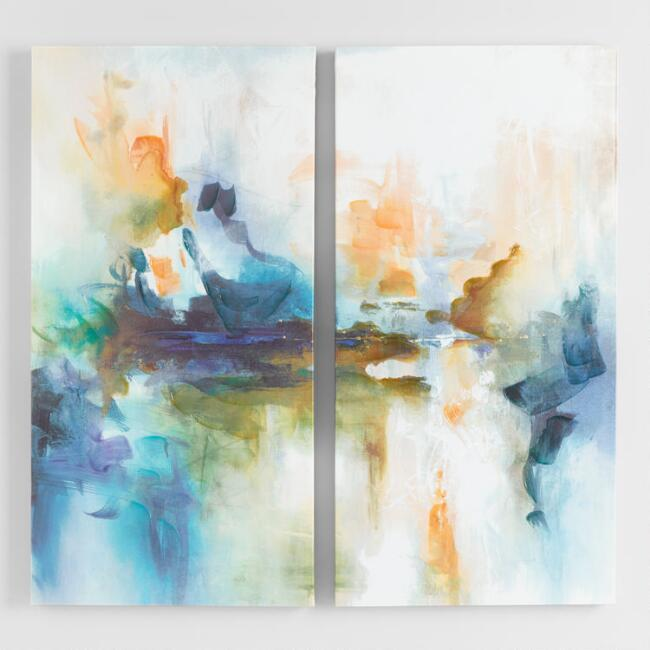 Fractured Diptych By Leah Rei Canvas Wall Art Set of 2
