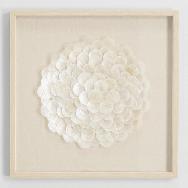 Capiz Shell Shadow Box Wall Art
