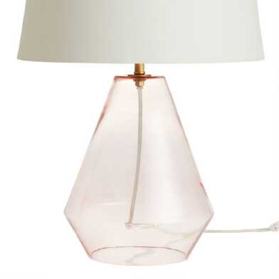 Blush Pink Blown Glass Table Lamp Base