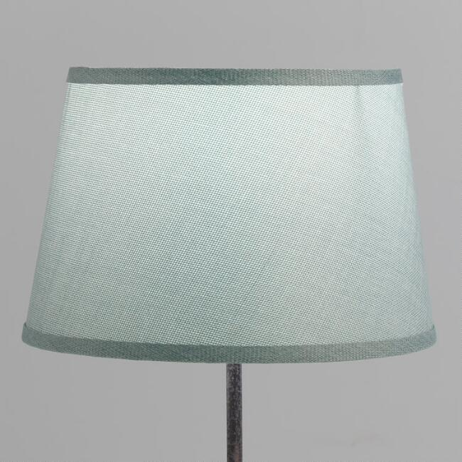 Dusty Blue Linen Accent Lamp Shade