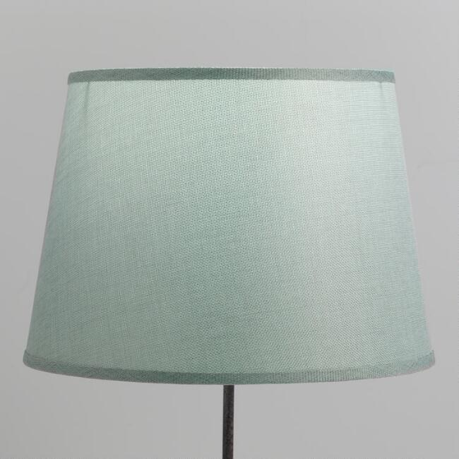 Dusty Blue Linen Table Lamp Shade