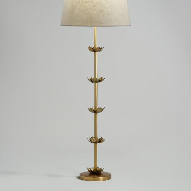 Brass Five Lotus Floor Lamp Base by World Market