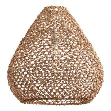 Natural Seagrass Teardrop Vicente Pendant Shade
