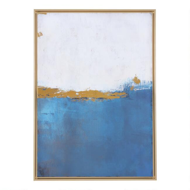 Ocean Abstract Framed Canvas Wall Art