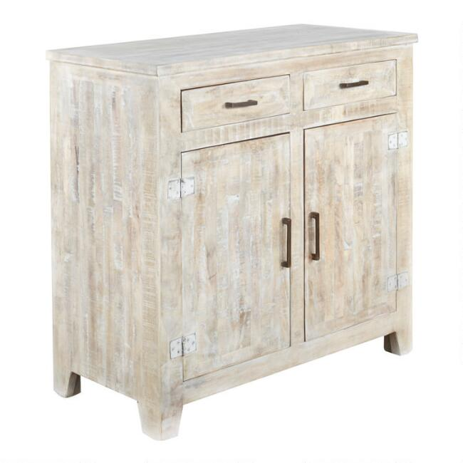 Whitewash Wood Leigh Storage Cabinet