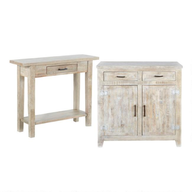 Whitewash Wood Leigh Furniture Collection