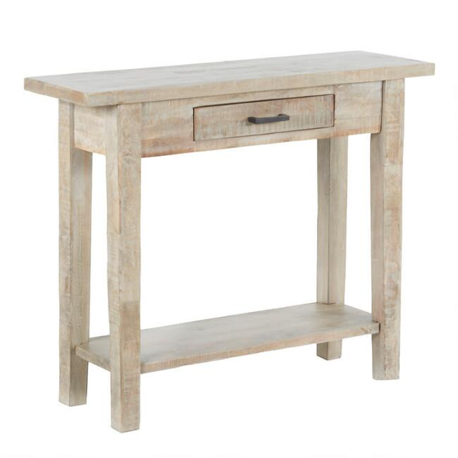 Whitewash Wood Leigh Console Table