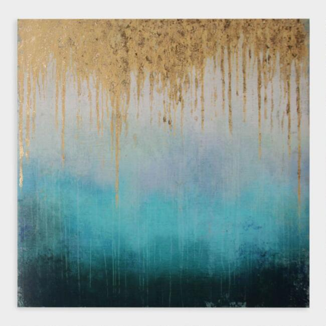Rainshower by Suzanne Nicoli Abstract Canvas Wall Art