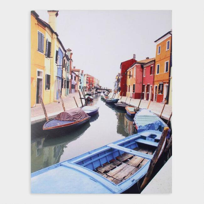 Burano Italy Canal By Thomas Mayberry Canvas Wall Art